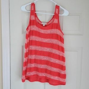Charming Charlie Sleeveless Striped Tank